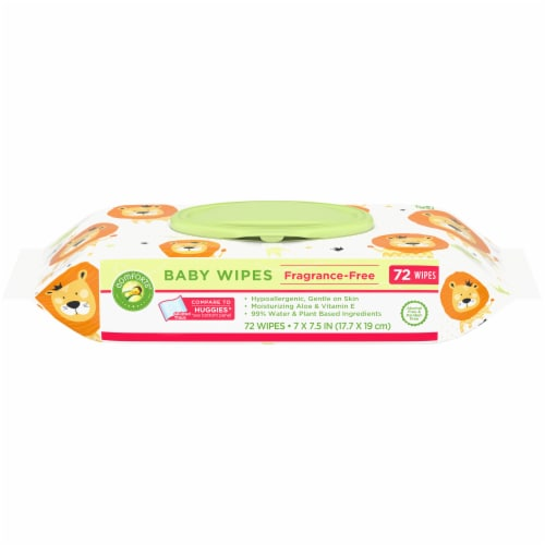 Comforts® Fragrance Free Baby Wipes Perspective: front