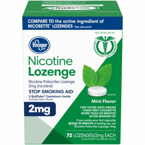 Kroger® Mint Flavor Nicotine Lozenges 2mg Perspective: front