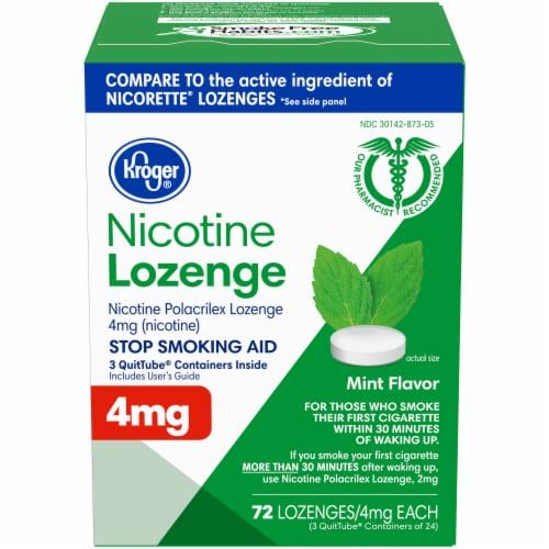 Kroger® Mint Flavor Nicotine Lozenges 4 mg Perspective: front