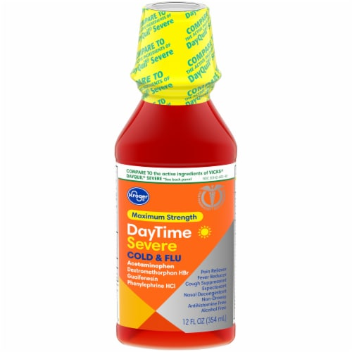 Kroger® Daytime Maximum Strength Cold & Flu Liquid Perspective: front
