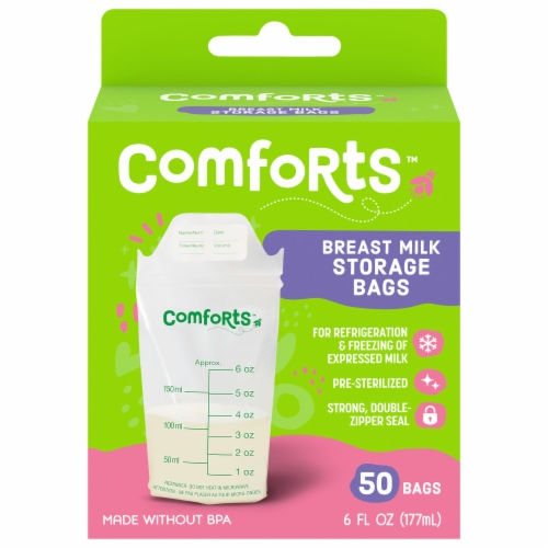 Comforts™ Breast Milk Storage Bags Perspective: front