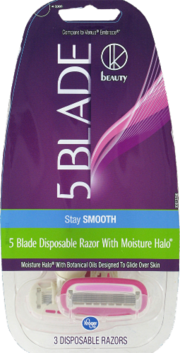 Kroger® Women's 5-Blade Disposable Razors Perspective: front