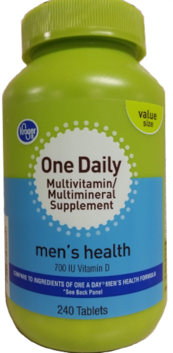 Kroger® One Daily Men's Health Multivitamin/Multimineral Supplement Tablets Perspective: front