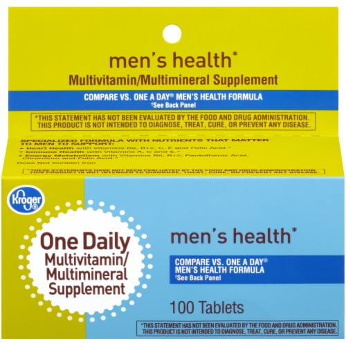 Kroger® One Daily Men's Health Multivitamin Tablets Perspective: front