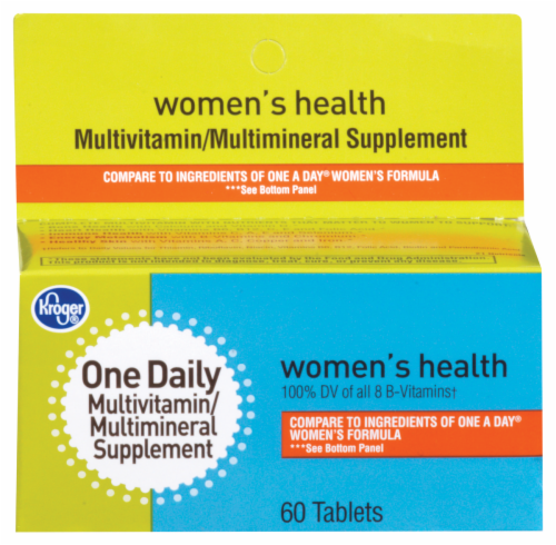 Kroger® One Daily Women's Health Multivitamin Tablets Perspective: front