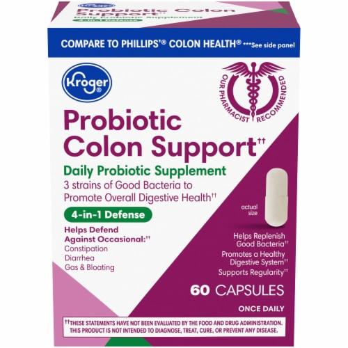 Kroger® Probiotic Colon Support Capsules Perspective: front