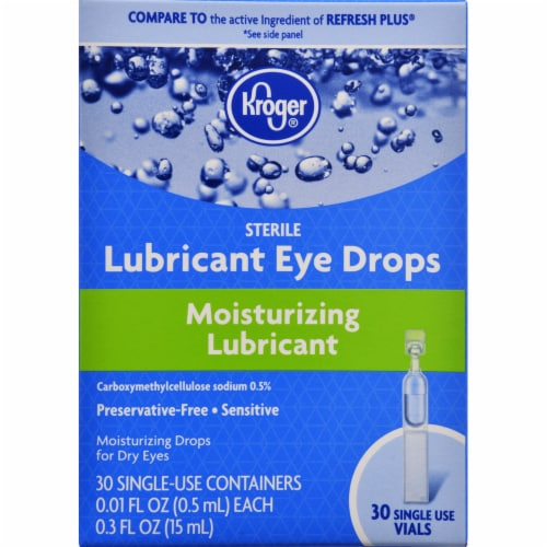 Kroger® Moisturizing Lubricant Eye Drops Perspective: front