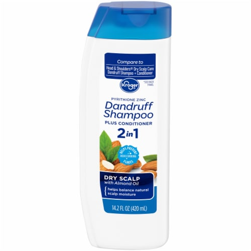 Kroger® Dry Scalp with Almond Oil 2 in 1 Dandruff Shampoo Plus Conditioner Perspective: front