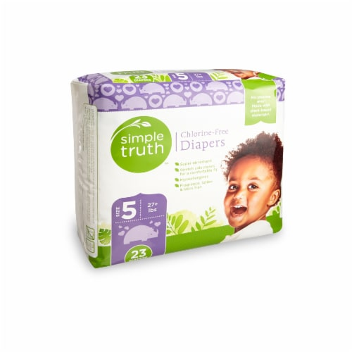 Simple Truth™ Size 5 Chlorine-Free Diapers Perspective: front