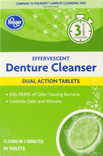 Kroger® Effervescent Dual Action Denture Cleanser Tablets Perspective: front