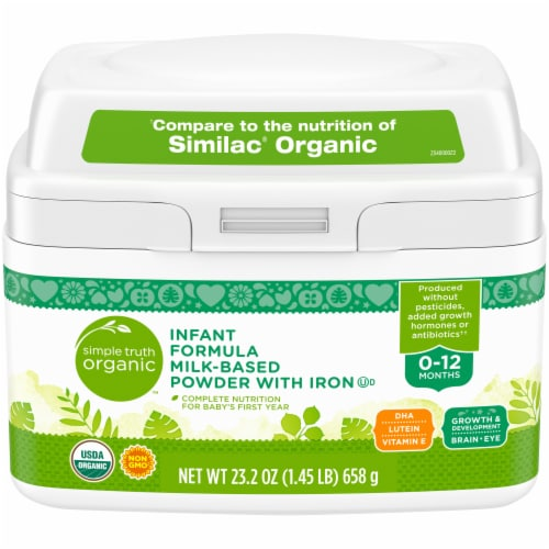 Simple Truth Organic™ Infant Formula Milk-Based Powder with Iron Perspective: front