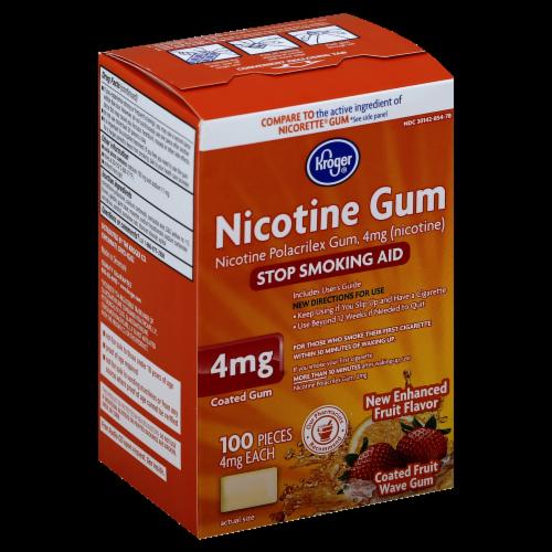 Kroger® Fruit Wave Coated Nicotine Gum 4mg Perspective: front