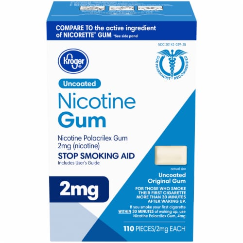 Kroger® Uncoated Original Nicotine Gum 2mg Perspective: front