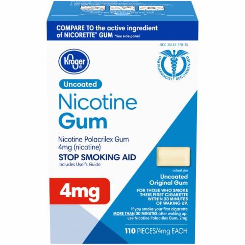 Kroger® Uncoated Original Nicotine Gum 4mg Perspective: front