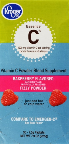 Kroger® Essence C Raspberry Vitamins Packets Perspective: front
