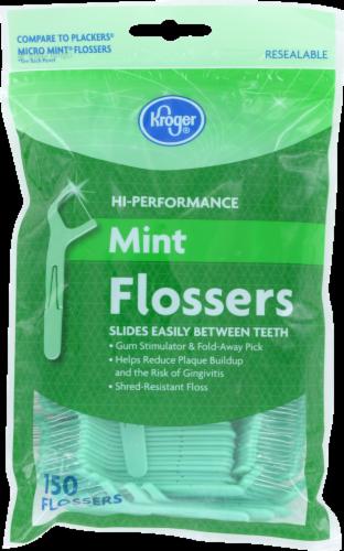 Kroger® Hi-Performance Mint Flossers Perspective: front