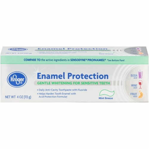 Kroger® Enamel Protection Mint Breeze Gentle Whitening for Sensitive Teeth Toothpaste Perspective: front