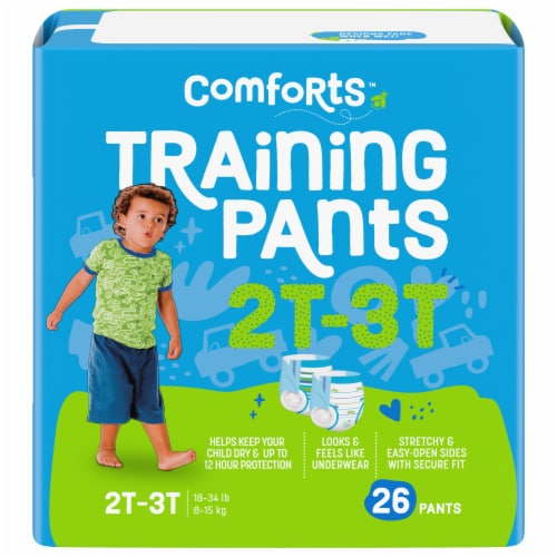 Comforts™ Day & Night 2T-3T Boys Training Pants Perspective: front