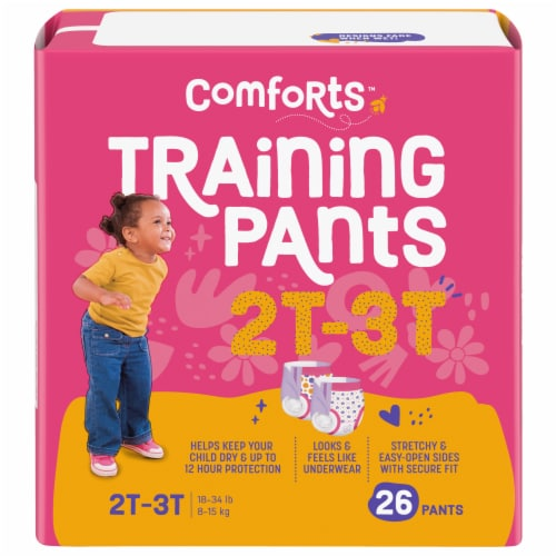Comforts 2T-3T Girls Day & Night Training Pants Perspective: front