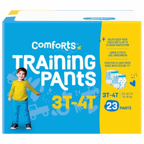 Comforts™ Day & Night 3T-4T Boys Training Pants Perspective: front