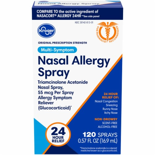 Kroger® 24 Hour Nasal Allergy Spray Perspective: front