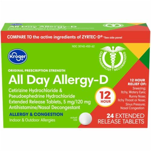 Kroger® Allergy Relief Medicine Perspective: front