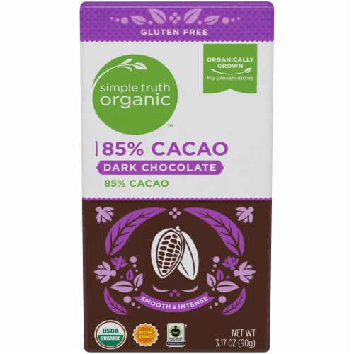 Simple Truth Organic™ 85% Cacao Dark Chocolate Bar Perspective: front
