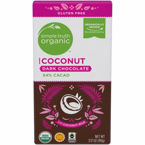 Simple Truth Organic™ Coconut 54% Cacao Dark Chocolate Bar Perspective: front