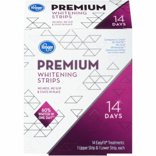 Kroger® Premium Whitening Strips Perspective: front