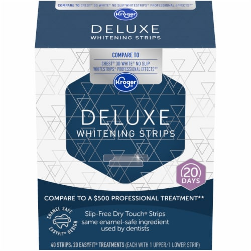 Kroger® Deluxe Whitening Strips Perspective: front