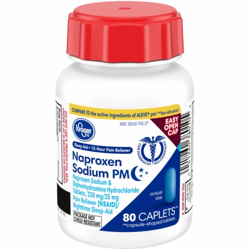 Kroger® Naproxen Sodium PM Pain Reliever Plus Sleep Aid Perspective: front