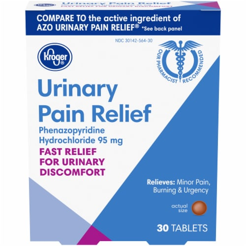 Kroger® Urinary Pain Relief Tablets 95mg 30 Count Perspective: front
