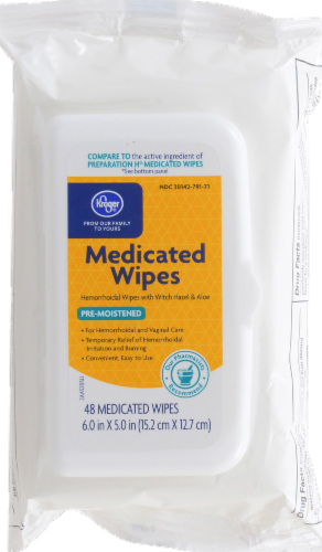 Kroger® Medicated Wipes Perspective: front