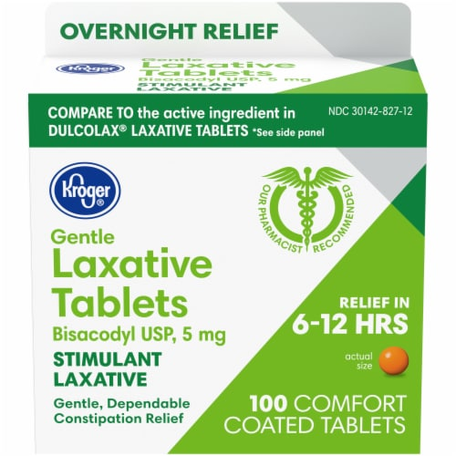 Kroger® Gentle Laxative Comfort Coated Tablets 5mg Perspective: front