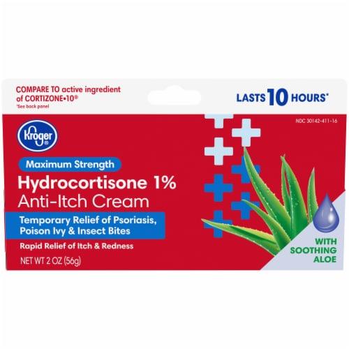 Kroger® Maximum Strength Hydrocortisone Anti-Itch Cream Perspective: front