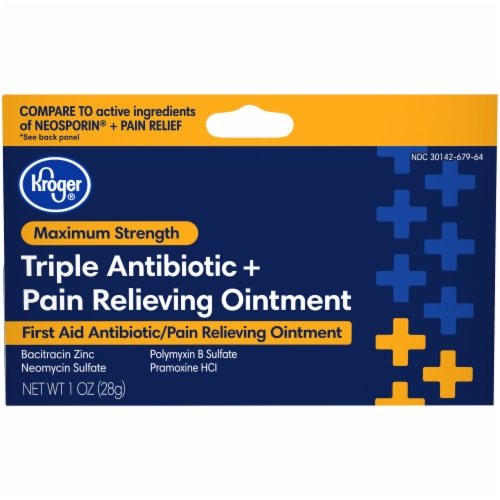 Kroger® Triple Antibiotic + Pain Relief Ointment Perspective: front