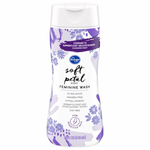 Kroger® Soft Petal Scent Feminine Wash Perspective: front