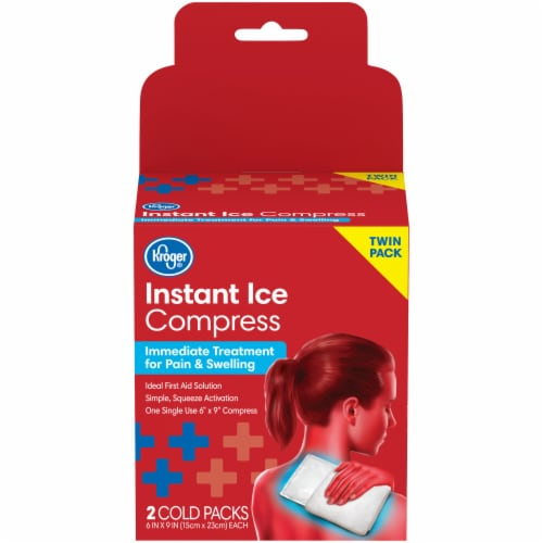 Kroger® Instant Ice Compress Twin Pack Perspective: front