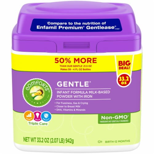 Comforts™ Gentle Milk-Based Infant Formula Powder with Iron Perspective: front