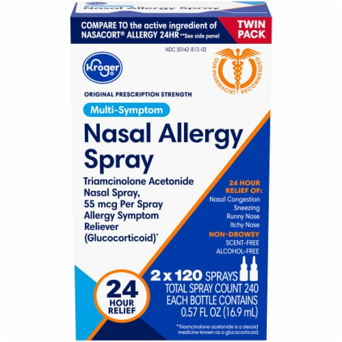 Kroger® 24 Hour Nasal Allergy Spray Twin Pack Perspective: front