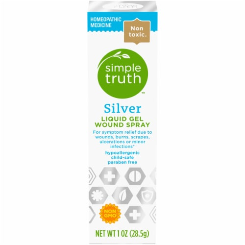 Simple Truth™ Silver Liquid Gel Wound Spray Perspective: front