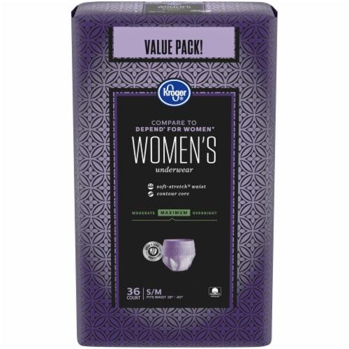 Kroger® S/M Maximum Absorbency Underwear for Women Perspective: front