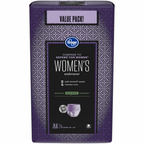 Kroger® Large Maximum Hold Woman's Underwear 32 Count Perspective: front