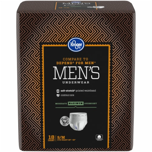 Kroger® S/M Maximum Absorbency Underwear for Men Perspective: front