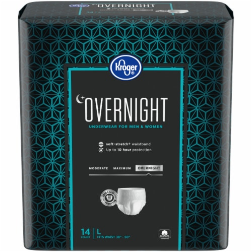Kroger® Overnight Underwear for Women and Men LG Perspective: front