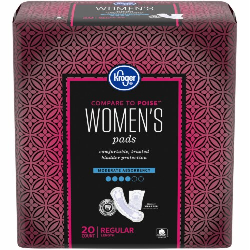 Kroger® Regular Length Moderate Absorbency Pads for Women Perspective: front