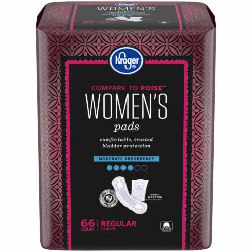 Kroger® Women's Regular Moderate Absorbency Pads Perspective: front