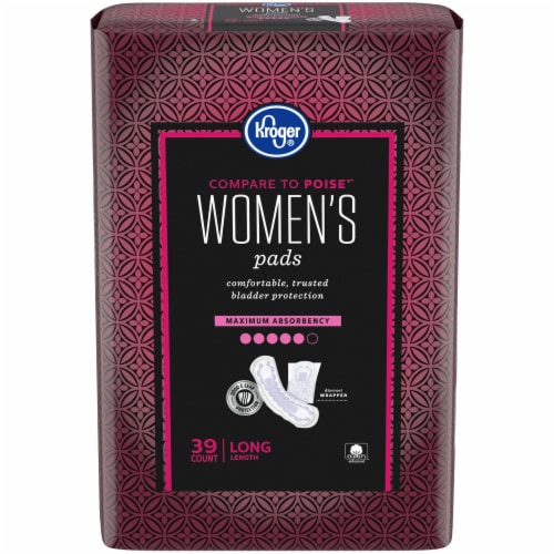 Kroger® Womens Long Maximum Absorbency Pads Perspective: front