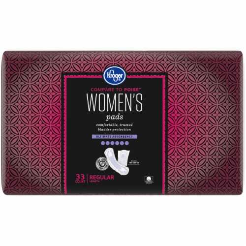 Kroger® Women's Regular Ultimate Absorbency Pads Perspective: front