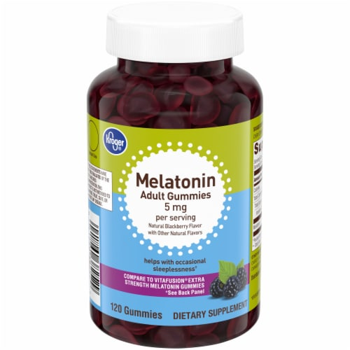 Kroger® Melatonin Adult Gummies 5mg 120 Count Perspective: front